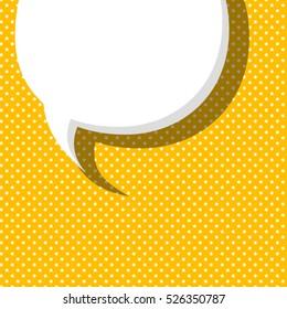 Blank comic balloon template. Clear comic yellow speech bubbles halftone dot background style pop art. Comic text dialog empty cloud pop art. Creative idea conversation background sketch explosion