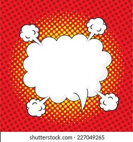 Blank comic speech bubble in pop art style, comic strip, comic backgound