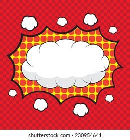 Blank comic speech bubbles design for comic background, comic strip background
