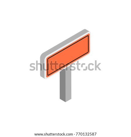 blank construction road sign icon orange stock vector royalty free