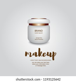 Blank Cosmetic Container for Cream, Powder or Gel isolated background