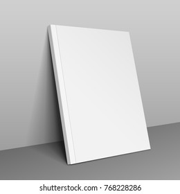Blank Cover Of Magazine, Book, Booklet, Brochure. Illustration. Background. Mock Up Template Ready For Your Design. Vector EPS10