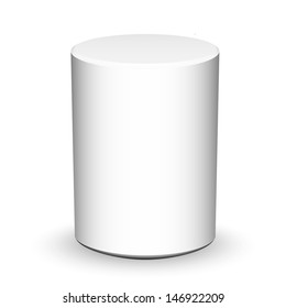 Blank cylinder on white background