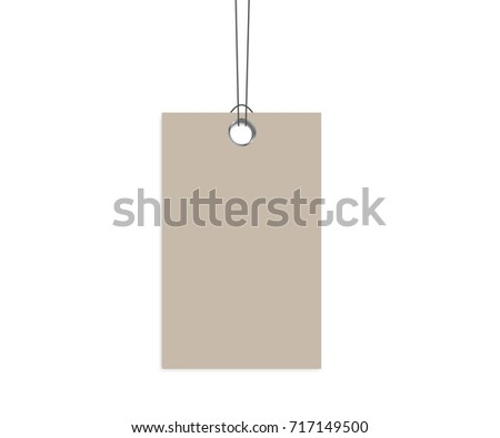 blank dangling paper label cloth tag stock vector royalty free