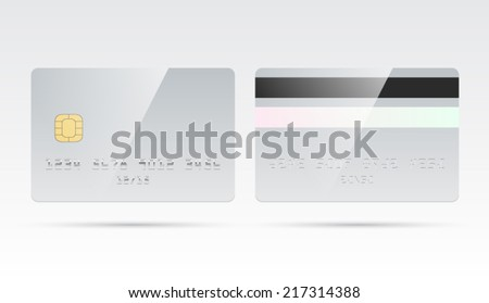 blank debit credit card template chip stock vector royalty free