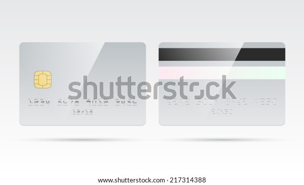 Blank Debit Credit Card Template Chip Stock Vector Royalty