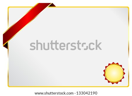 blank diploma certificate golden ribbon stock vector royalty free