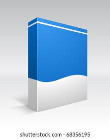 Blank dvd box on background. Vector illustration.