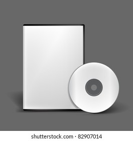 Blank DVD case and disc vector design
