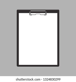 Blank empty clipboard mockup flat and solid color design. Illustrated vector - Vector