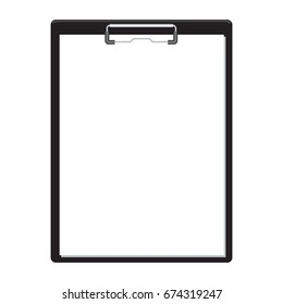 Blank empty clipboard mockup flat and solid color design. Illustrated vector