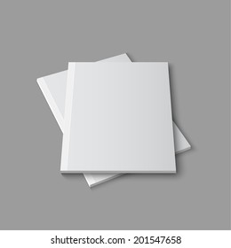 Blank empty magazine template lying on a gray background. vector
