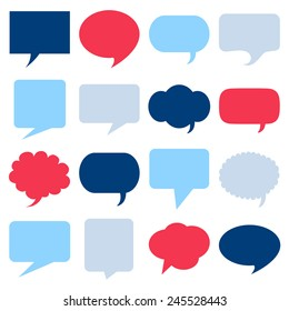 Blank empty speech bubbles icons set great for any use. Vector EPS10.