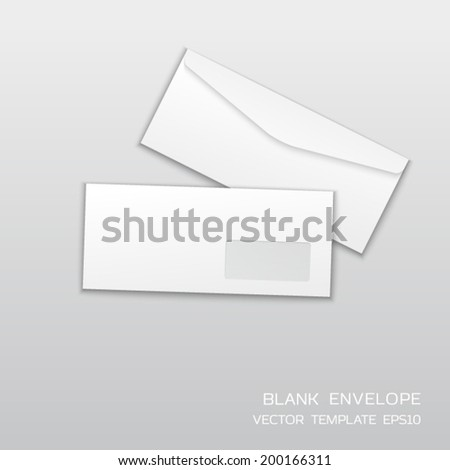 blank envelope template isolated on gray stock vector royalty free