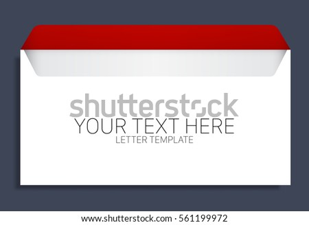 blank envelope template space text stock vector royalty free