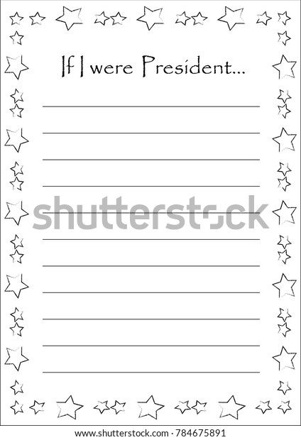 blank essay were president beautiful stars stock vector royalty  blank for an essay if i were president with beautiful stars frame