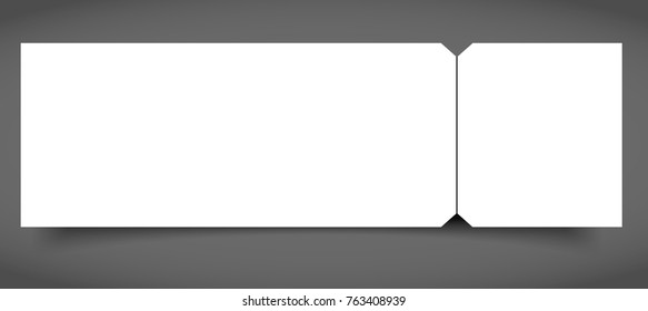 set blank event concert ticket mockup stock vector royalty free