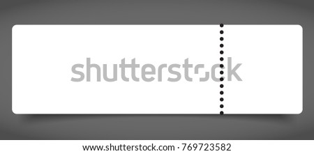 blank event concert ticket mockup template stock vector royalty