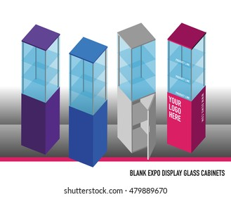 Blank Expo Display Glass Cabinets
