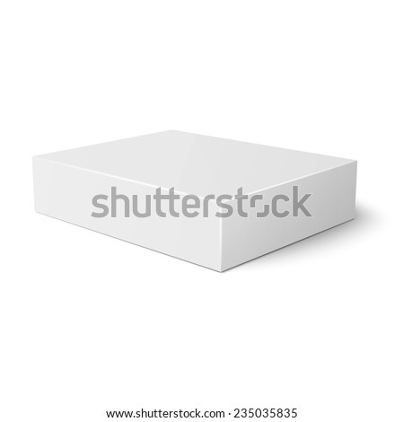 blank flat paper cardboard box template stock vector royalty free