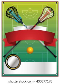 A blank flyer template for a lacrosse event. Vector EPS 10 available.