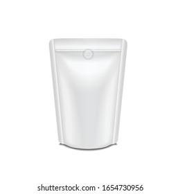 Blank foil milk or juice pack pouch sachet bag packaging for branding. For your design