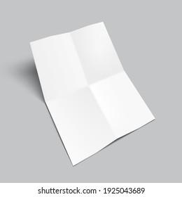 Blank Four Fold Brochure Template For Your Presentation. EPS10 Vector