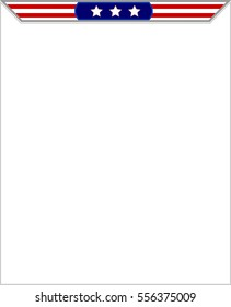 Blank frame with stylized American flag with copy space for your text.