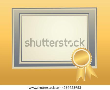 blank frame template award seal certificate stock vector royalty