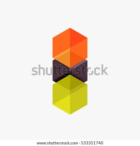 blank geometric abstract business templates hexagon stock vector