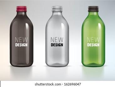 blank glass bottle for new design