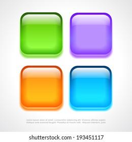 Blank glass buttons