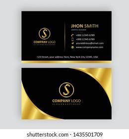 Visitenkarte Schwarz Gold Images Stock Photos Vectors