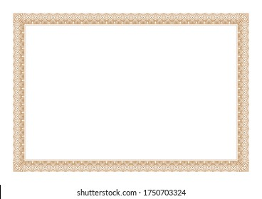 Blank Gold Certificate Frame  ready add Text