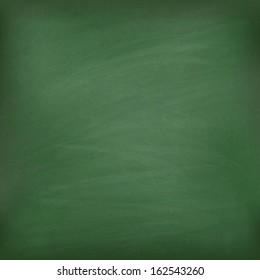 Blank green chalkboard. Template for your design. Vector eps10