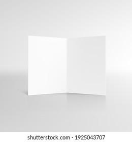 Blank Half Fold Brochure Template For Your Presentation. EPS10 Vector