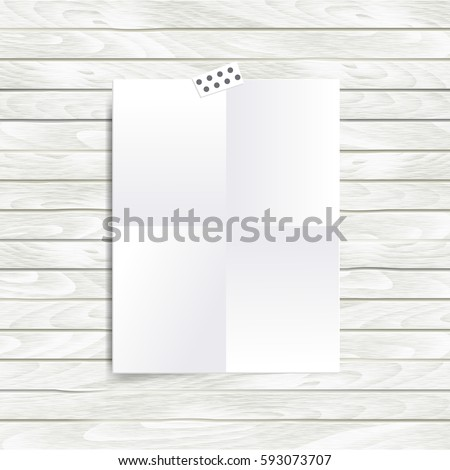 blank halffold brochure design mood board stock vector royalty free