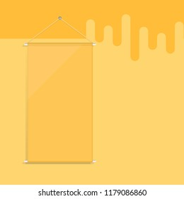 Blank hanging flag quality poster, stock vector