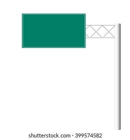 Blank highway road signs.