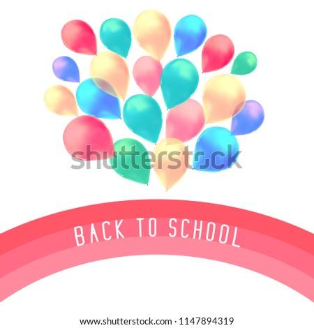 blank holiday birthday banner balloons isolated stock vector