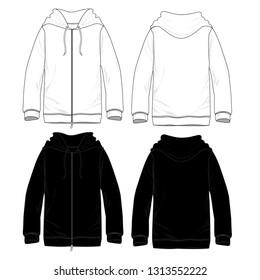 Blank Hoodies with zip