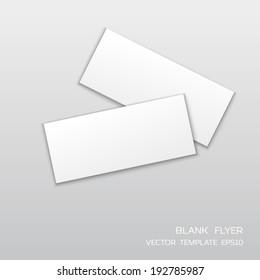 Blank horisontal flyer isolated on gray background.  Vector illustration for branding