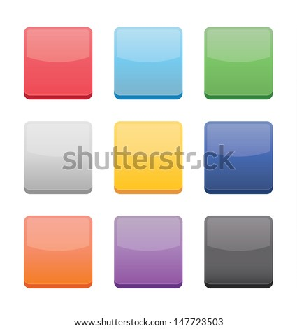 blank icons templates web mobile applications stock vector royalty