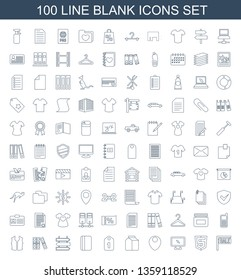 blank icons. Trendy 100 blank icons. Contain icons such as sale, shield, display, location, milk, tag, passport, direction, binder, sleeveless shirt. blank icon for web and mobile.