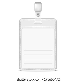 Blank identification card Badge ID template Vector Illustration