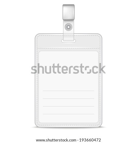 blank identification card badge id template stock vector royalty