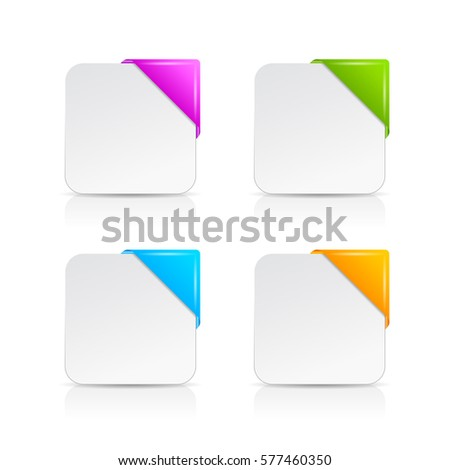 blank info card template set vector stock vector royalty free