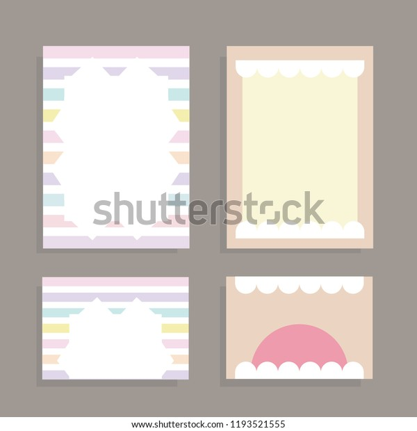 Blank Invitation Card Template Soft Colorful Stock Vector