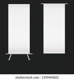 Blank kakemono set.vector