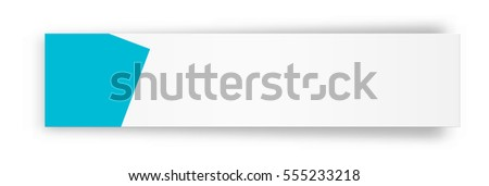 blank label blank white web banner stock vector royalty free